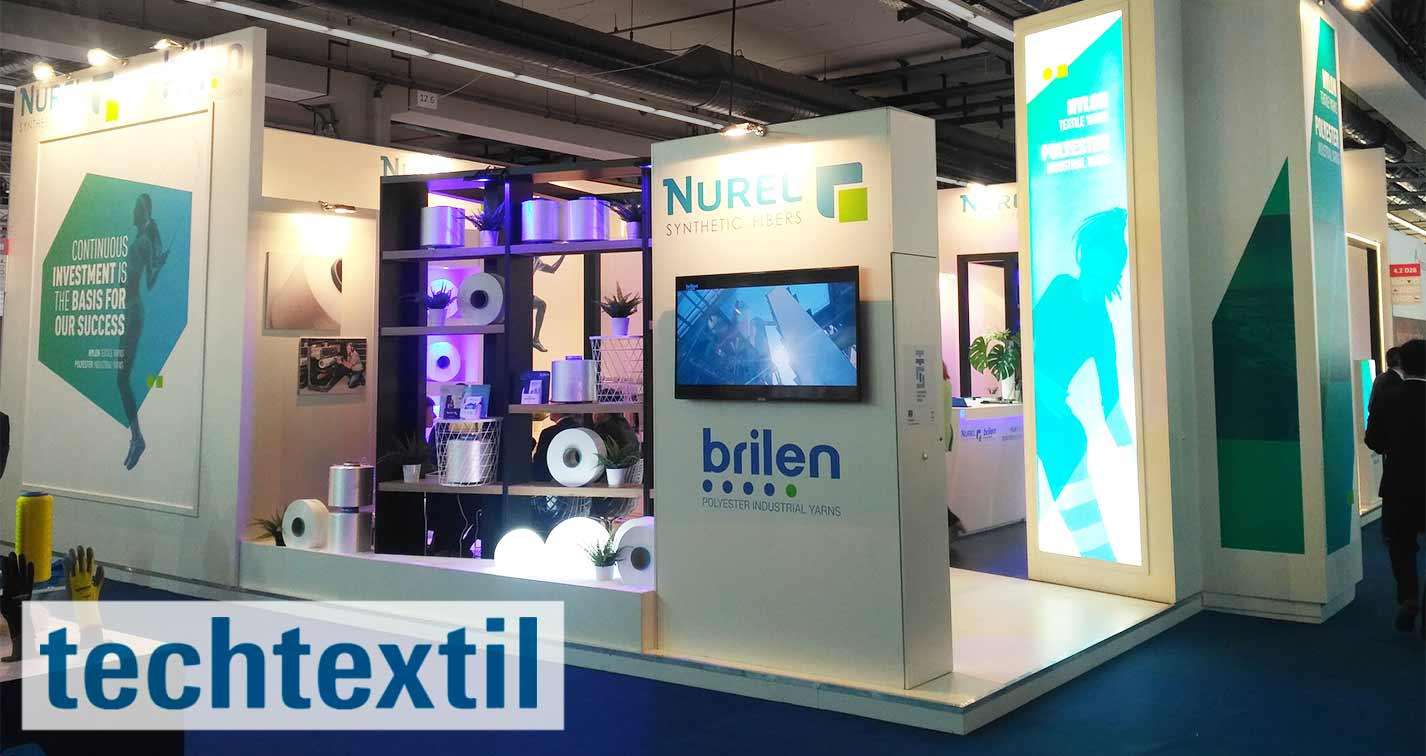 BRILEN Techtextil Frankfurt 2019 Booth Polyester Industrial Yarns